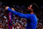esultanza polemica Messi