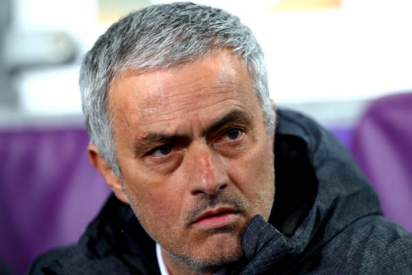 José Mourinho in Anderlecht-Manchester United - Europa League