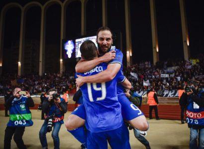 Monaco-Juventus, Higuain e Bonucci