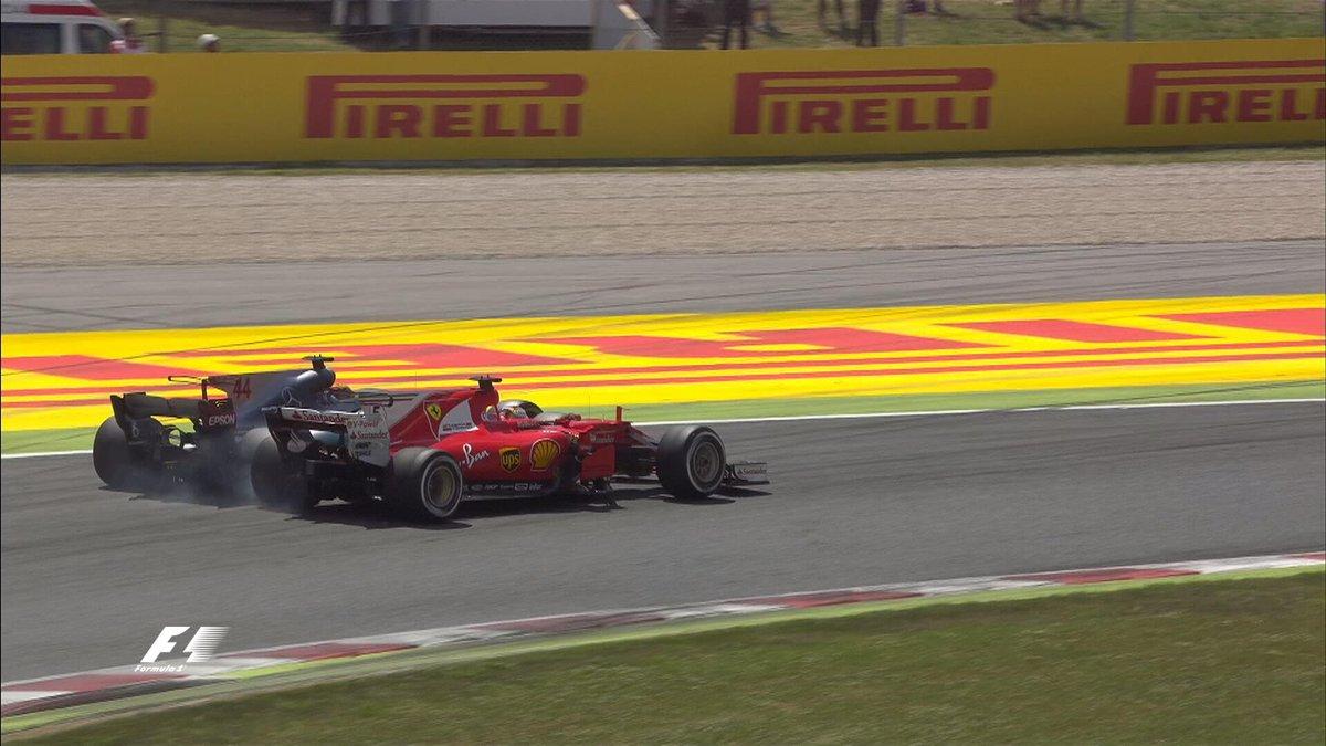 Contatto Hamilton-Vettel F1 Gp Spagna 2017