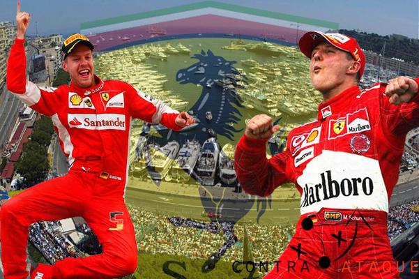 Vettel Schumacher Montecarlo