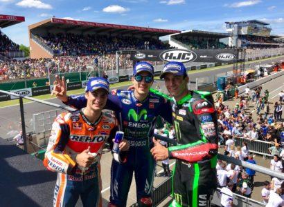 Vinales Zarco Pedrosa podio Gp Francia MotoGP 2017