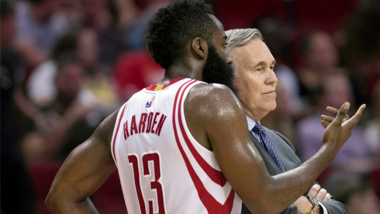mike d'antoni e james harde, houston rockets