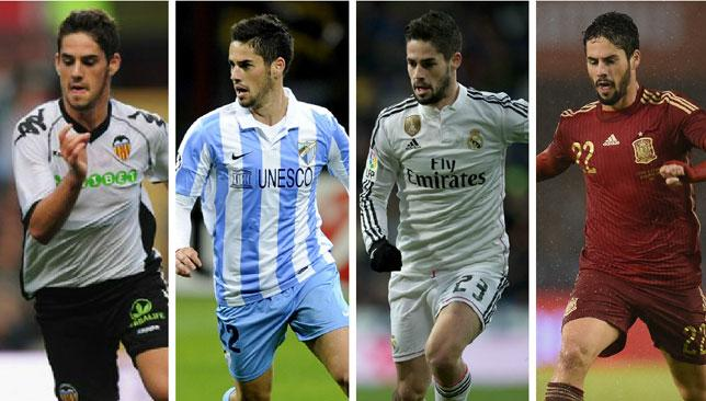 Isco real madrid malaga spain