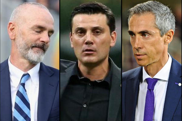 Stefano Pioli, All. Inter - Vincenzo Montella, All. Milan - Paulo Sousa, All. Fiorentina - Serie A Europa League