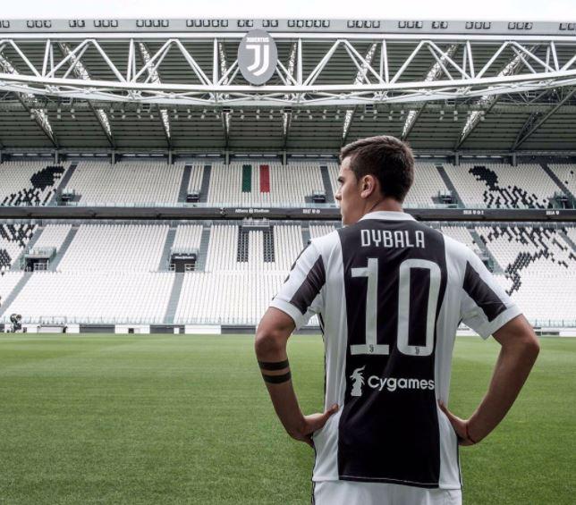 Dybala numero dieci Juventus
