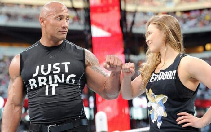 the rock ronda rousey