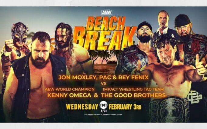 aew beach break report