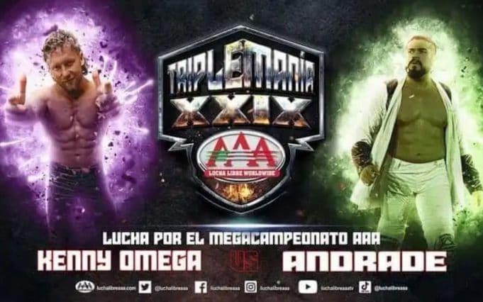 AEW AAA TripleMania 29 Kenny Omega Andrade El Idolo